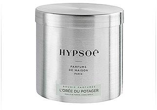 bougie parfum�e Hypos� dans sa grande bo�te m�tal : L'Or�e du Potager