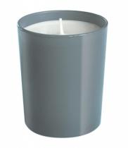Bougie parfumée, verre - laqué gris
