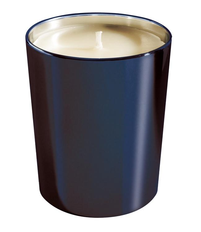 bougie parfum e verre m tallis brillant bleu nuit. Black Bedroom Furniture Sets. Home Design Ideas