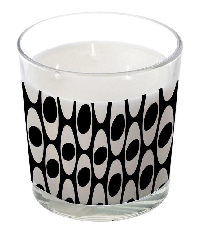grande bougie parfum e 3 m ches vase ellipse blanche coffret noir. Black Bedroom Furniture Sets. Home Design Ideas