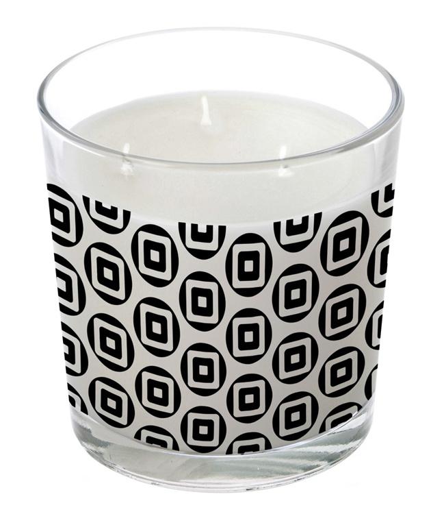 grande bougie parfum e 3 m ches carr blanc coffret noir parfum d finir. Black Bedroom Furniture Sets. Home Design Ideas