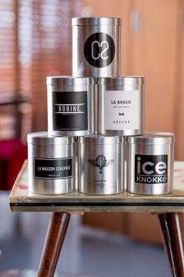 Exemples de bougies personnalisées avec étiquette