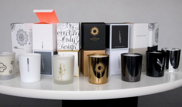 customized candles examples of silk-screening and printing mode