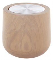 XL natural Wooden scented candle, metal tin refill - Choose your scent