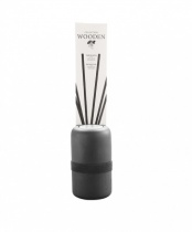 Black Wooden diffuser, Refill bottle, Black rattan sticks case - Lounge