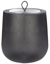 Black Wooden scented candle, metal tin refill - Choose your scent