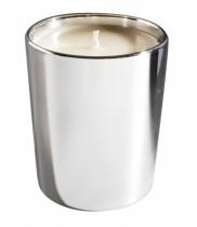 Bougie parfumée, verre  métallisé brillant argent