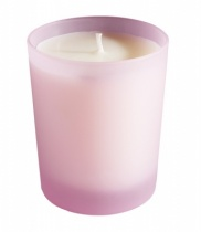 Bougie parfumée, verre dépoli rose