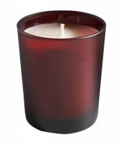 Bougie parfumée, verre dépoli rouge