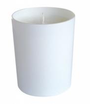 Bougie parfumée, verre laqué blanc