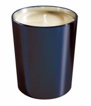 Bougie parfumée, verre métallisé brillant bleu nuit