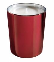 Bougie parfumée, verre métallisé brillant bordeaux