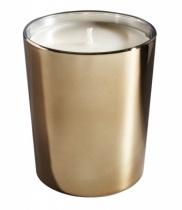 Bougie parfumée, verre métallisé brillant bronze