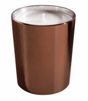 Bougie parfumée, verre métallisé brillant chocolat