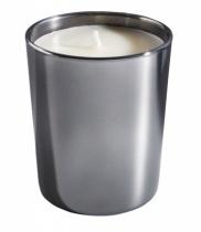 Bougie parfumée, verre métallisé brillant chrome