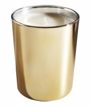 Bougie parfumée, verre métallisé brillant or