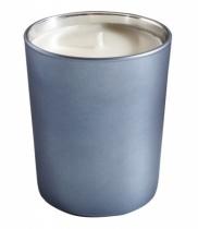 Bougie parfumée, verre métallisé mat bleu gris