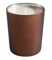 Bougie parfumée, verre métallisé mat brun
