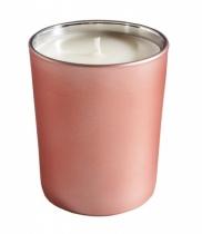 Bougie parfumée, verre métallisé mat rose