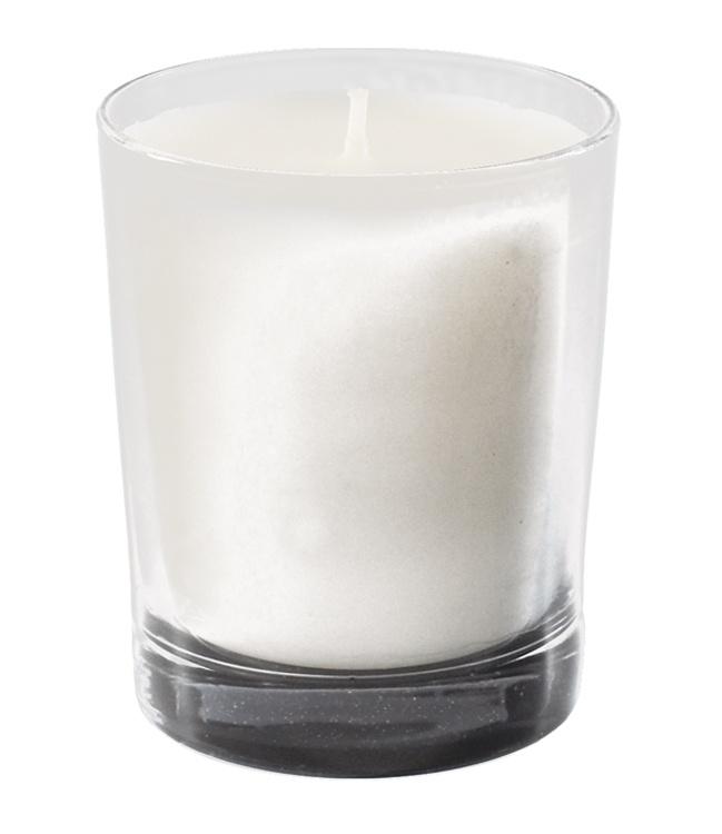 Bougie parfumée, verre transparent