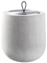 Bougie parfumée Dolmen béton gris clair, recharge boîte métal - Parfum à définir
