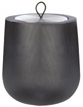Bougie parfumée Wooden Noire, recharge boîte métal - Parfum à définir