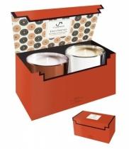 Coffret 2 bougies parfumées - Épices indiennes<br /> SENTEUR PONDICHÉRY & SRINAGAR
