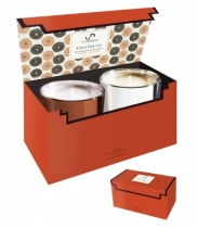 A set of 2 scented candles packaged in a metal glass - Épices indiennes :  PONDICHÉRY & SRINAGAR FRANGRANCES