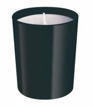 Bougie parfumée, verre laqué noir.