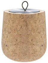 Cork Wooden scented candle, metal tin refill - Choose your scent