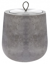 Dark grey Dolmen scented candle, metal tin refill - Choose your scent