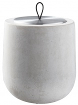 light grey Dolmen scented candle, metal tin refill - Choose your scent