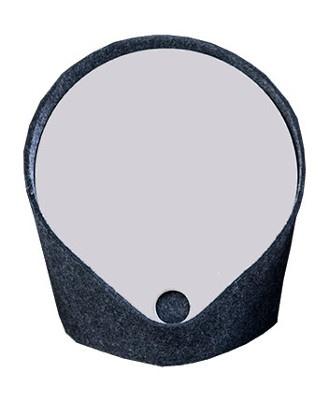 """""""Felt"""" catch-all mirror : Charcoal grey"""