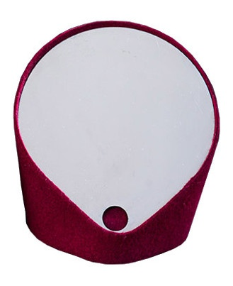 """Felt"" catch-all mirror : Deep red"