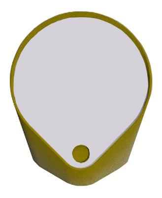 Miroir vide-poche Felt - Safran intense