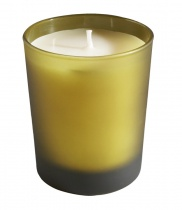 Scented candle, Khaki frosted glass