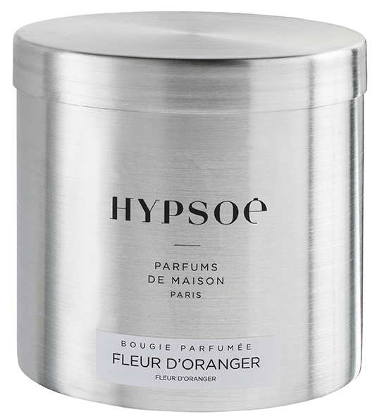 Scented candle in a big metal tin - Fleur d\'oranger