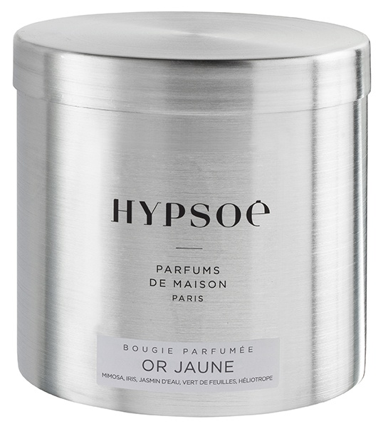 Scented candle in a big metal tin - Or jaune