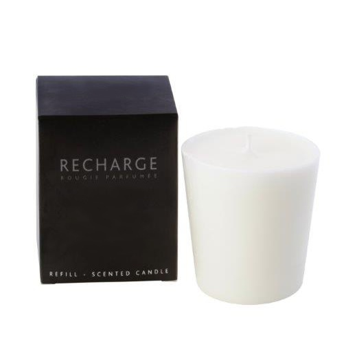 Scented candle refill for glass