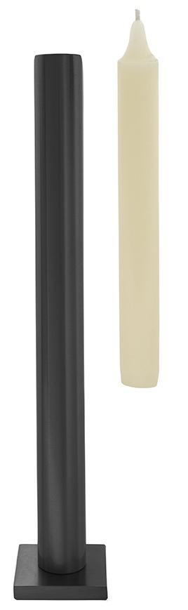 """Tall table \""""Still\"""" candlestick - Matt Chrome"""