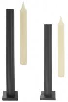 """Tall table """"Still"""" candlestick - Matt Chrome"""