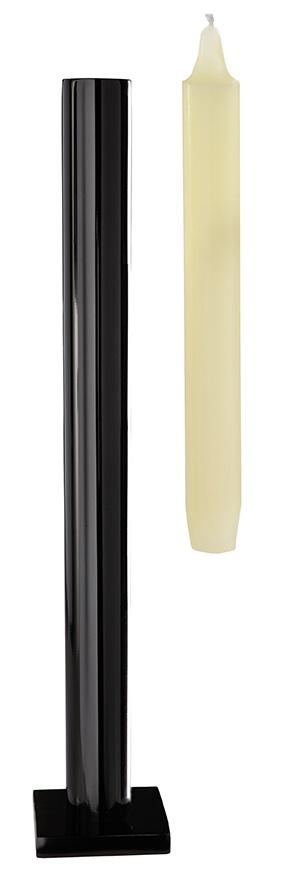 "Tall table ""Still"" candlestick - Shiny Chrome"