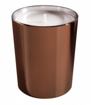 Scented candle in a chocolat shiny metal glass