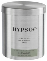 Wooden scented candle, refill in a metal box - Havane
