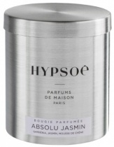 Wooden scented candle, refill in a metal tin - Absolu jasmin