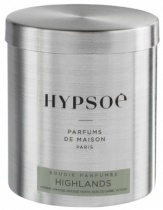 Wooden scented candle, refill in a metal tin - Highlands