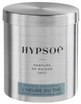 Wooden scented candle, refill in a metal tin - L\'heure du thé