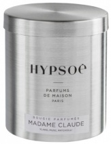 Wooden scented candle, refill in a metal tin - Madame Claude
