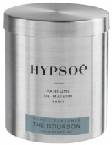 Wooden scented candle, refill in a metal tin - Thé bourbon