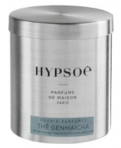 Wooden scented candle, refill in a metal tin - Thé Genmaicha